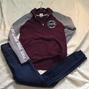 PINK👄zipper sweatshirt